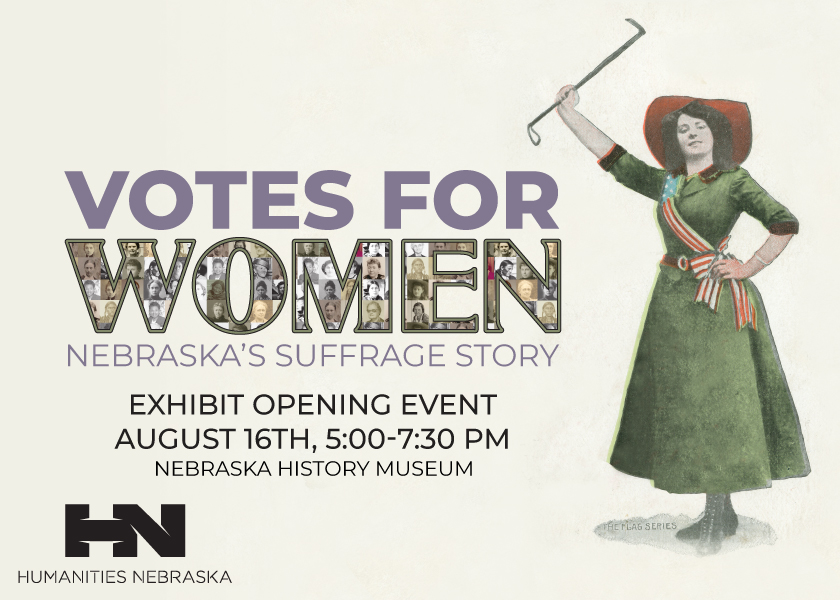 Graphic for the opening of Votes for Women: Nebraska's Suffrage Story