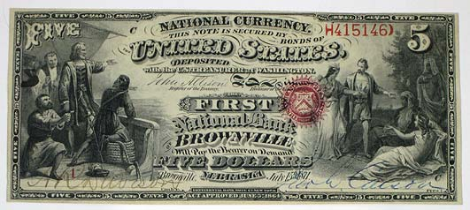 National Bank of Brownville, $5 (NSHS 7291-39)