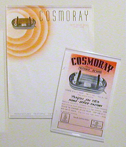 Cosmoray letterhead  and pamphlet