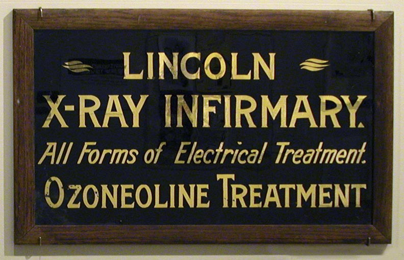 Lincoln X-ray Infirmary sign