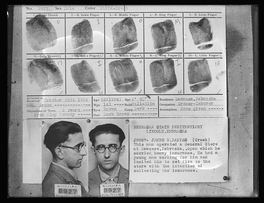 James Pappas Mugshot Report with Fingerprints