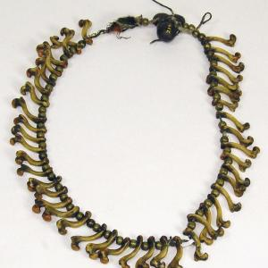 Young Spotted Tail turtle bone necklace [2199]