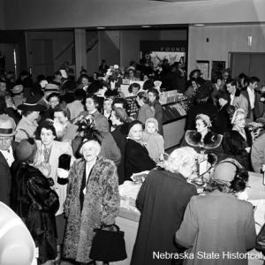 Grand opening of a new J. C. Penney store in downtown Lincoln, November 16, 1950.