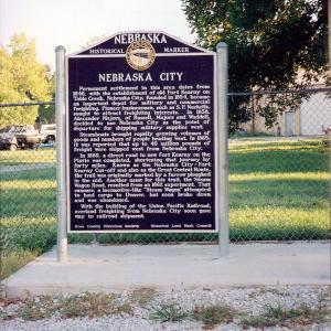 Nebraska City historical marker