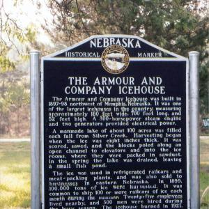 The Armour and Company Icehouse historical marker