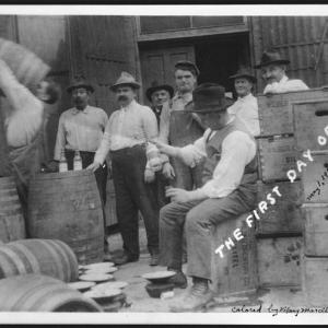 Photo of first day of Prohibition in Nebraska, May 1, 1917