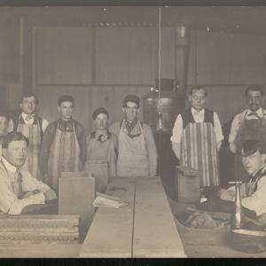 Employees at Ross & Dryson Cigar Factory in Lincoln, Nebraska. Circa 1910.