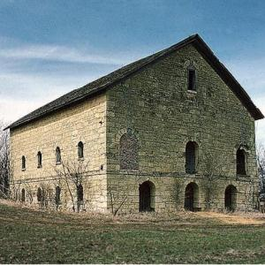 Few barns in Nebraska Territory were as substantial as the Elijah Filley Stone Barn, built in 1874 in Gage County. It is now on the National Register of Historic Places. NSHS Historic Preservation GA00-001
