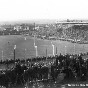 Final game at Nebraska Field, November 30, 1922. NSHS RG2758-105-10