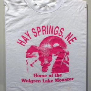 13314946d Promotional T-shirt sold by the Hay Springs Centennial Committee in 1985