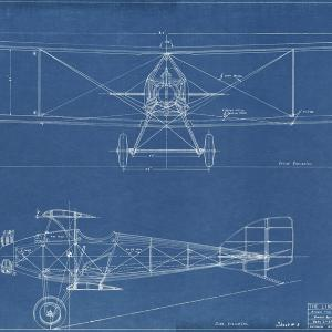 Blueprint drawing for the Lincoln Sport Plane, February 25, 1925. [RG3726.AM: Encil Chambers]