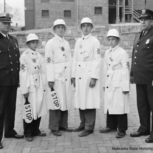 Columbian School Safety Patrol, Omaha, 1939 (RG3882.PH42-28-1)