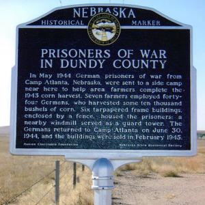 prisoners of war in dundy county historical marker