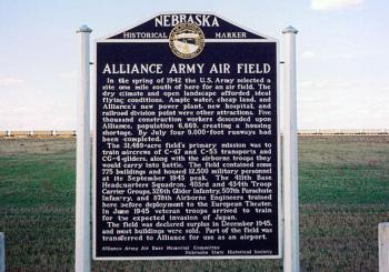 Alliance Army Air Field marker