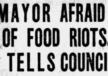 Image from Omaha Bee: MAYOR AFRAID OF FOOD RIOTS, TELLS COUNCIL