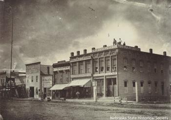 Northwest corner 13th and Douglas, Omaha, August 1868