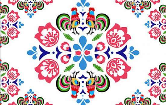 inspired by Polish embroidery and designed by Anna Sousek