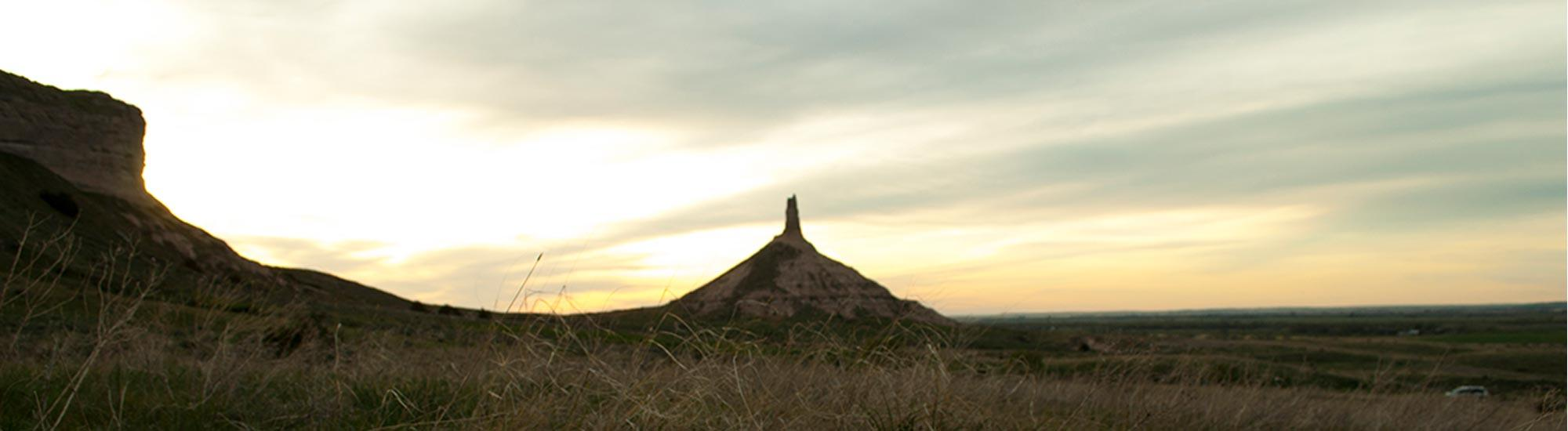 Chimney Rock at Sunset