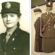 Helen Sagl, and a display of her uniform