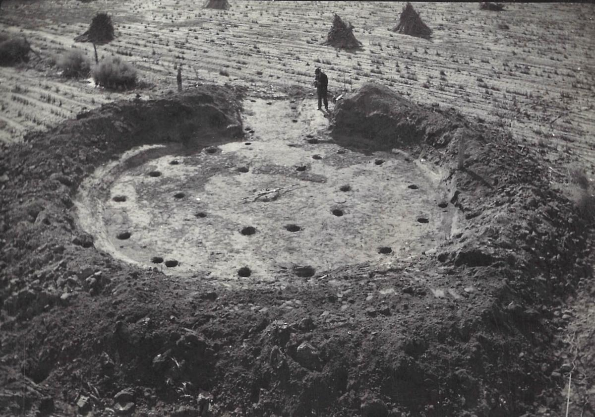 House Floor at the Pike Pawnee Site in Webster County, 1941