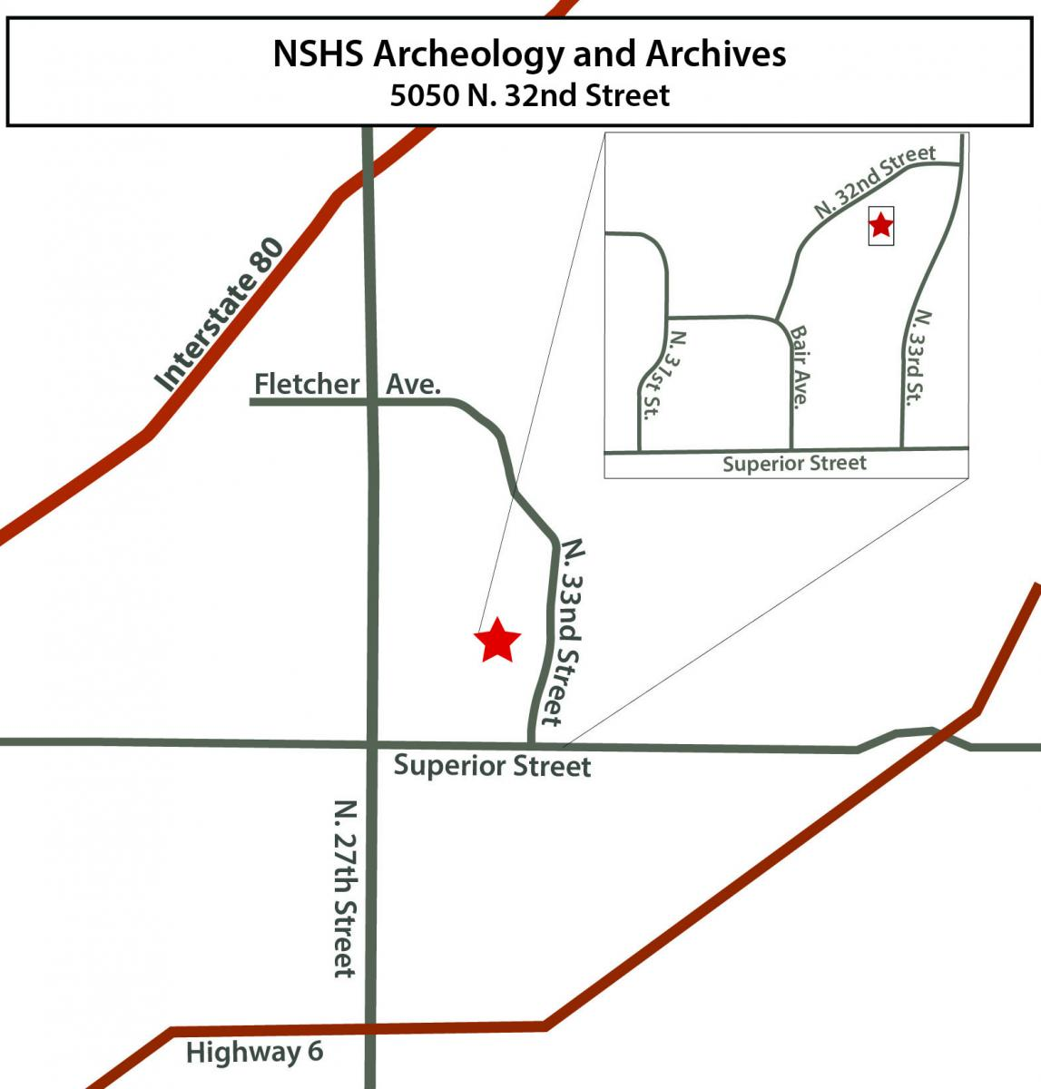 Map - 5050 N. 32nd Street, Lincoln, Nebraska