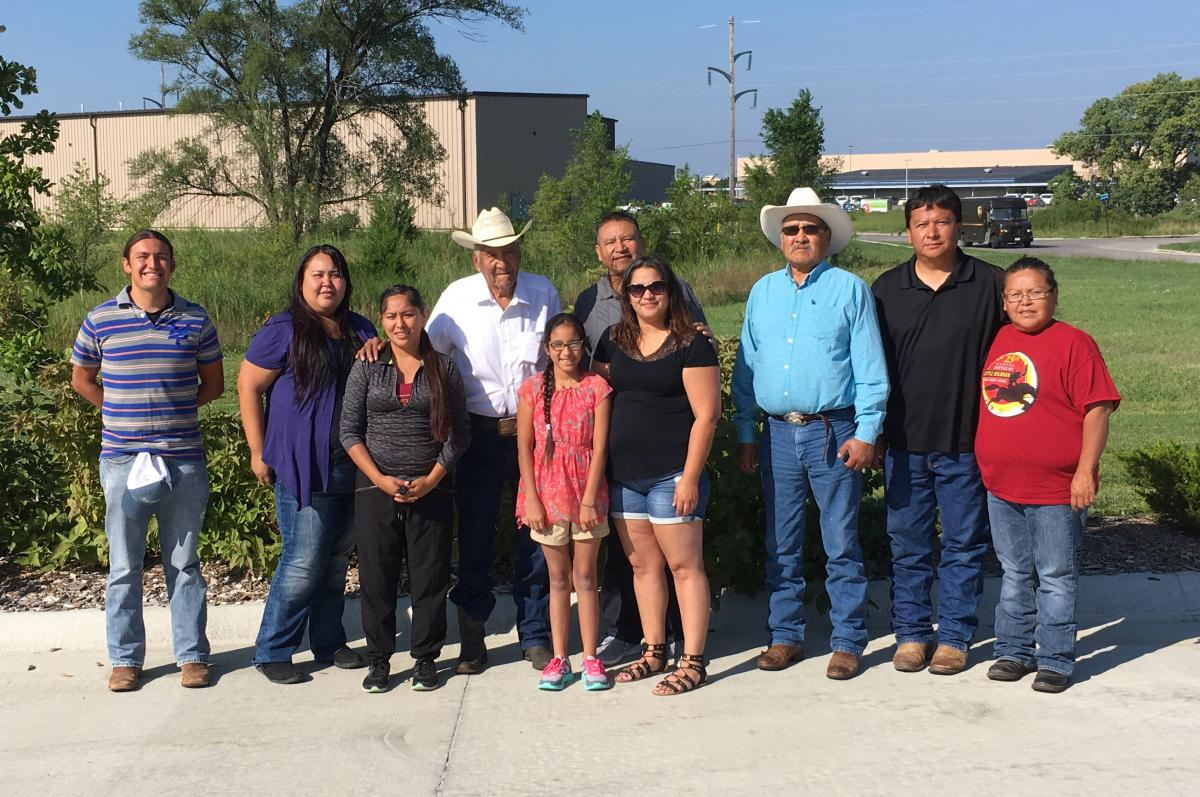 Members of the Northern Cheyenne Tribe taking possession of ancestral remains discovered near Fort Robinson.