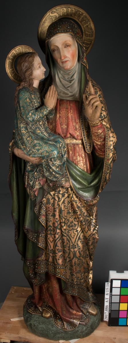 St Anne Sculpture overall, after treatment