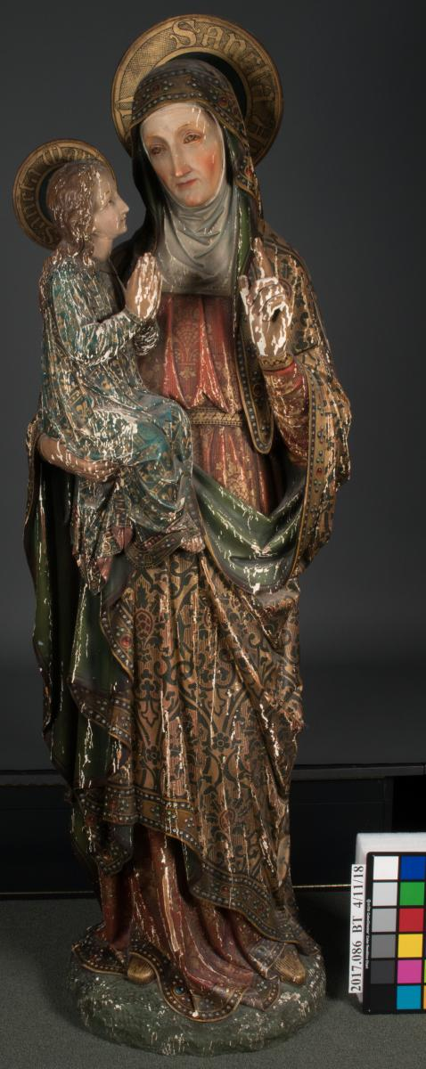 St Anne Sculpture overall, before treatment