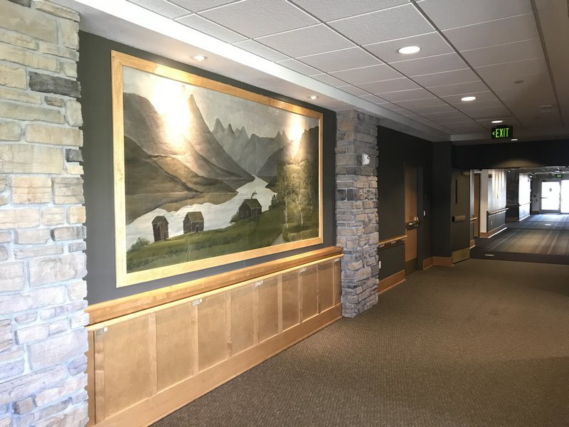 Mountains and River Mural on display at PioneerCare.