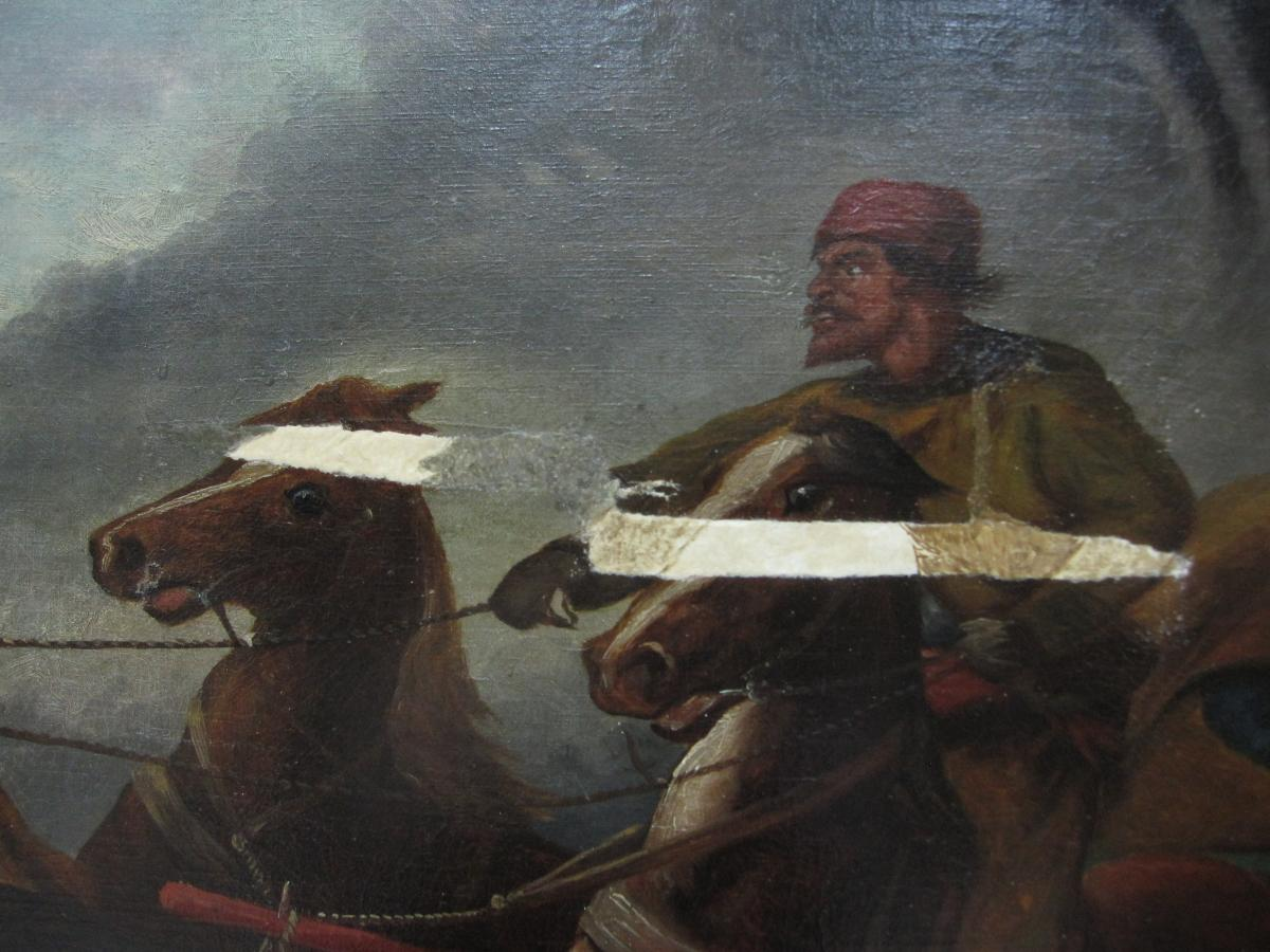 Peter and Pavel painting detail showing tears filled