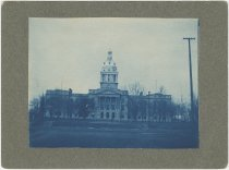 Cyanotype of the Second Nebraska State Capitol Building