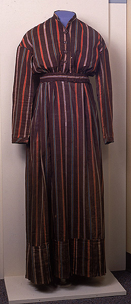 1849 striped dressed