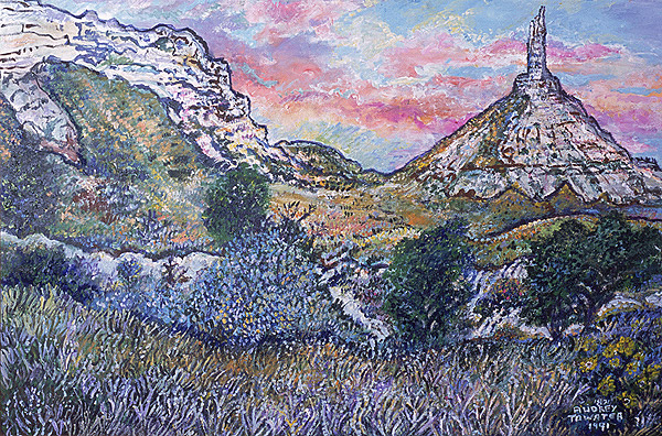 Oil painting for Chimney Rock 1991