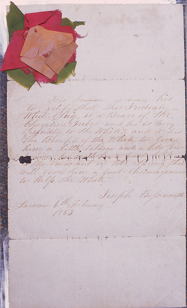 Letter written by Joseph Bissonnette