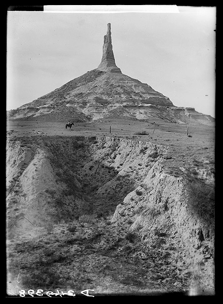 Photograph of Chimney Rock taken around 1902
