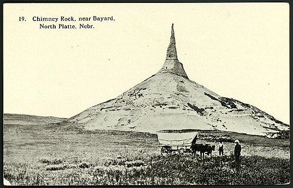 Postcard of Chimney Rock