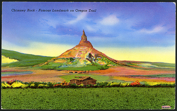 Postcard of Chimney Rock #SK4666