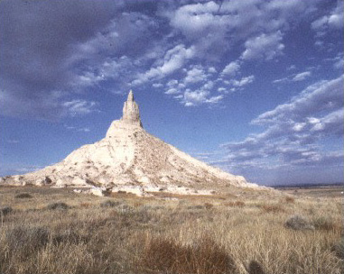Photograph of Chimney Rock from 1993