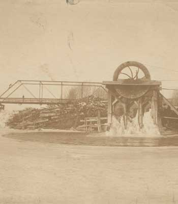 Old photo of Neligh Mill