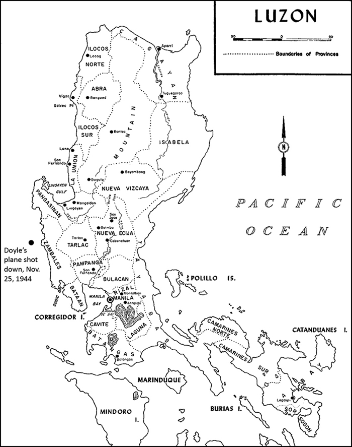 Map of Luzon, the Philippines. Robert Ross Smith, Unites States Army in World War II, the War in the Pacific: Triumph in the Philippines (Washington, D.C.: office of the Chief of Military History, Department of the Army, 1993)