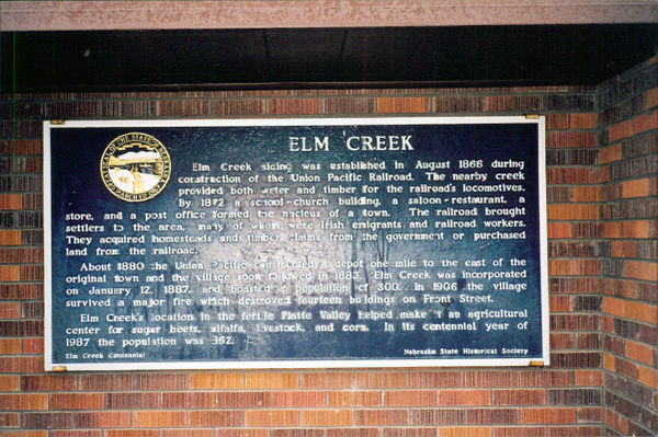 Elm Creek Marker