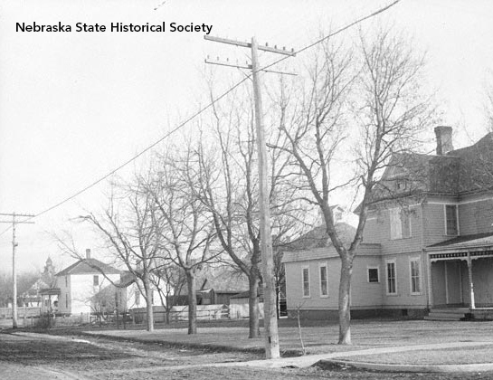 Photographer Solomon D. Butcher depicted a street in Kearney in 1910